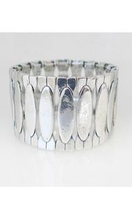 Women's Jewellery in Australia | ON560 - Silver Oval Bracelet |  FAB