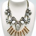 Women's Accessories | FN2617 - Statement Silver and Gold Jewelled Necklace | FAB