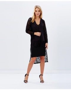 Women's Knitwear | Frill Me Lace Cardigan | KITCHY KU