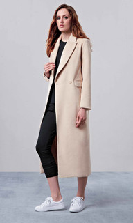 Ladies Jackets in Australia | EM328 Sand Button Front Coat | ELLY M
