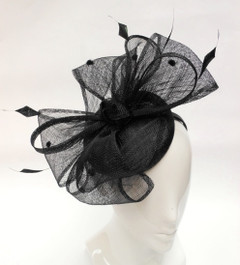 Fascinators Online | FH2314 - Large Offset Bow Fascinator on Head Band   | FAB