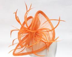 Ladies Fascinators Online |  FH2317O - Large Twirl Mesh Fascinator on Head Band | FAB