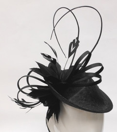 Fascinators in Australia |  FH2325B - Large Hat Style Fascinator on Head Band | FAB