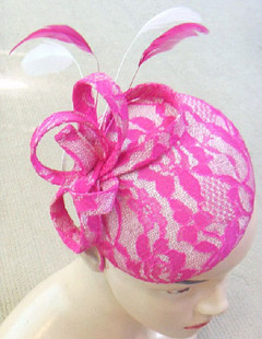 Ladies Fascinators Online | FH2320 - Large Lace Covered Pillbox Fascinator on Head Band | FAB