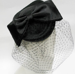 Fascinators Online |  FH2316 - Bow Fascinator with Veil on Head Band | FAB