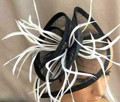Fascinators Online Australia |FH2318 - Large Twirl Mesh Fascinator on Head Band | FAB