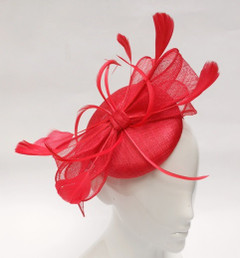 Fascinators online | FH2324 - Small Pillbox Fascinator with Sinmay Bow on Head Band|  FAB