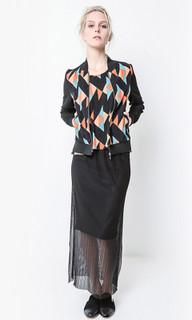 Women's Maxi Skirts | EM551 Black Maxi Skirt | ELLY M