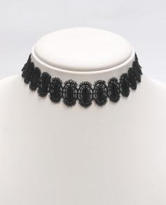 Women's Jewellery | Black Lace Choker Necklace | FAB