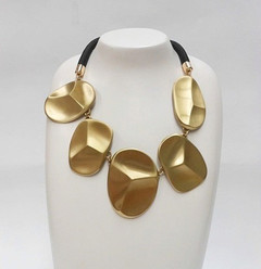 Women's Jewellery | FNSS17-3 Gold Disk Necklace | FAB