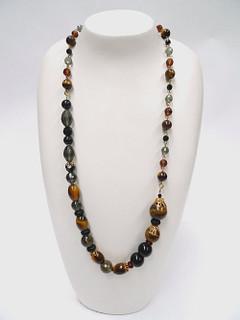 Women's Jewellery | FN2807 Earth Bead Necklace | FAB