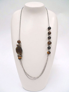 Women's Jewellery Online | FN2808 Bead and Chain Earth Necklace | FAB