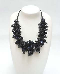 Women's Jewellery Online | FN2811N Chunky Navy Bulb Necklace | FAB
