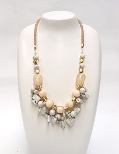 Women's Jewellery Online Australia | FN2818 Marble statement Necklace | FAB