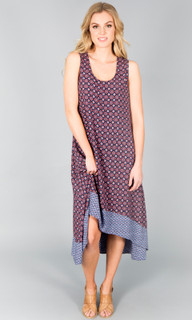 Women's Dresses | Maggie Tile Print Midi Dress | ICE EXPRESS