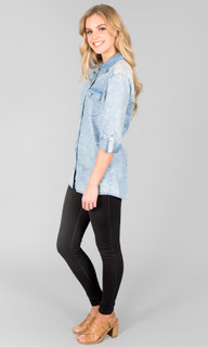 Georgia Chambray Shirt by ICE EXPRESS | Ladies Tops | @ alibiOnline