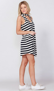 Women's Dresses Online Australia | Dobby Stripe Keyhole Dress | SASS