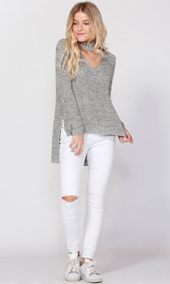 Women's Top Online | Justice Keyhole Knit | SASS