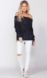 Women's Top Online   Snow Shoulder Knit   SASS