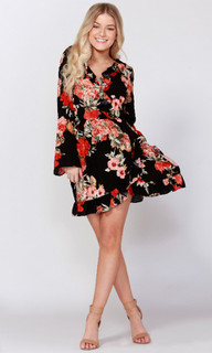 Women's Dresses Online Australia | Burnt Floral Print Dress | SASS
