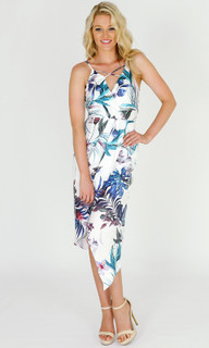 Women's Dresses Online Australia | Dream Birds Front Drape Strap Dress | 3RD LOVE
