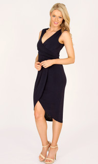Women's Dresses Online Australia | Sultry Blues Capped Sleeved Wrap Dress | 3RD LOVE