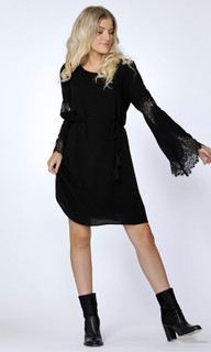 Women's Dresses Online Australia | Daphne Lace Sleeve Dress | SASS