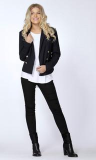 Women's Jackets Online Australia | Scout Gold Trim Blazer | SASS