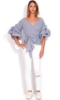 Women's Tops Online Australia | Elle Wrap Shirt | WISH