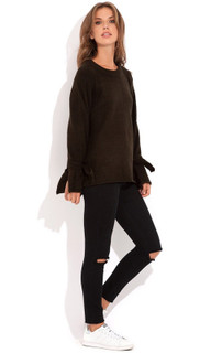 Women's Tops Online Australia | Leap Tie Sweater | WISH