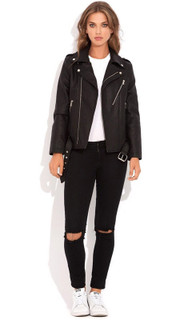 Women's Tops Online Australia | Addition Leather Jacket | WISH