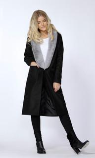 Women's Jackets | Selene Fur Trim Coat | SASS