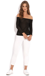 Women's Jackets Australia | Transverse Off Shoulder Top | @AlibiOnline