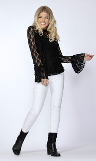 Women's Tops Online Australia | Elina Lace Frill Blouse | SASS