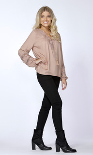 Women's Tops Online Australia | Azalea Lace Trim Blouse | SASS