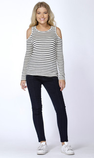 Women's Tops Online Australia | Jeannie Cutout Stripe Sweater | SASS