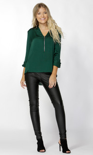Women's Tops | Dolce Zip Front Blouse | SASS