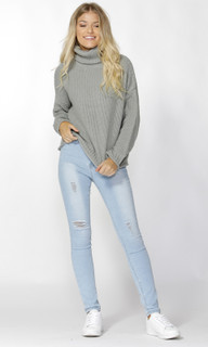 Women's Tops | Cassandra Roll Neck Knit | SASS