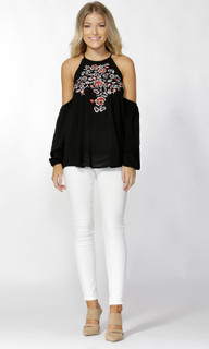 Women's Tops | Tessie Embroidered Blouse | SASS