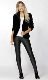 Women's Jackets | Aralyn Velvet Blazer | SASS
