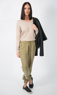 WOMEN'S PANTS ONLINE | Cargo Pants in KHAKI | ICE EXPRESS