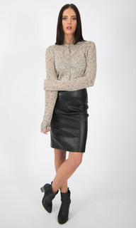 WOMEN'S SKIRTS AUSTRALIA | Leather Look Skirt | ICE EXPRESS