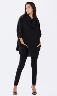 Women's Knits in Australia | Counting Stars Poncho | PIZZUTO