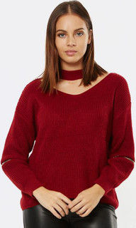 Women's Knits  | 50 Shades Collar Sweater | PIZZUTO