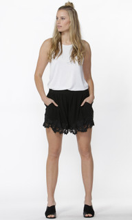 Women's Shorts | Edie Dobby Lace Shorts | SASS