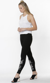 Women's Pants | Lyla Embroidered Ponte Pants | SASS