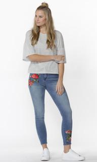 Women's Tops Online | Delany Flutter Sleeve Tee | SASS