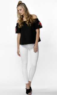 Women's Tops | Orion Floral Sleeve Blouse |  SASS