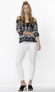 Women's Tops Online | Tasha Embroidered Blouse | SASS