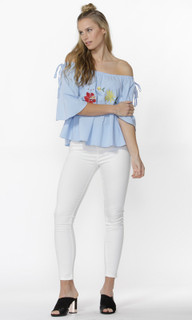 Women's Tops  | Alexus Floral Embroidered Top | SASS